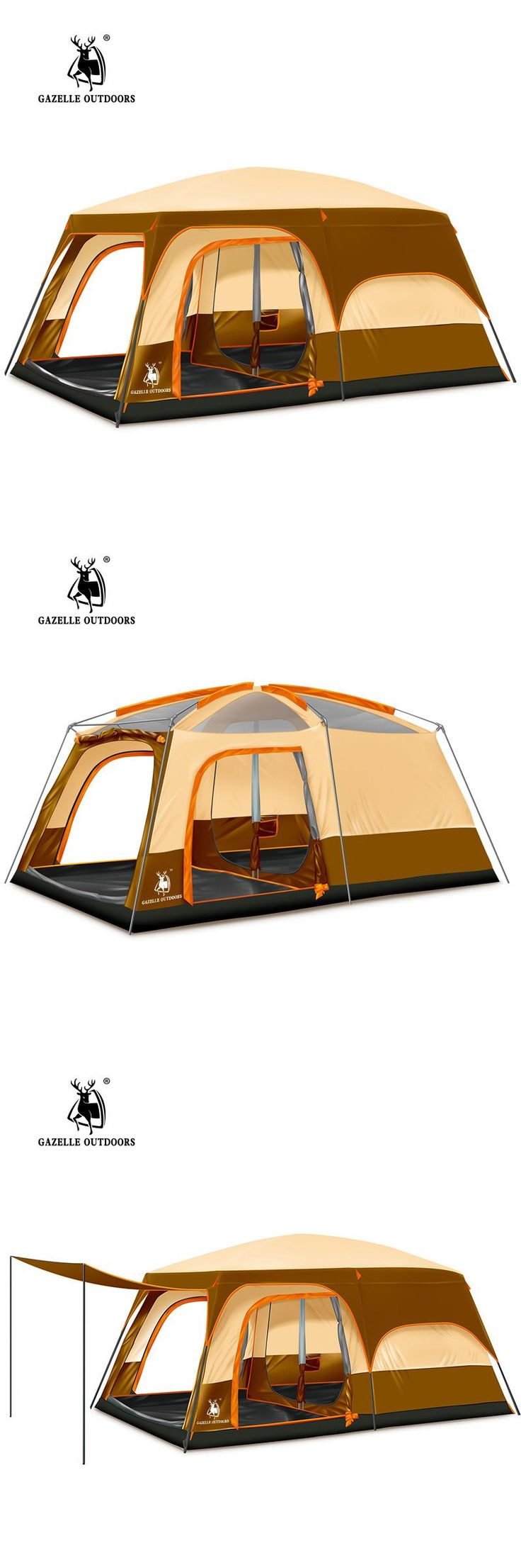 [Visit to Buy] 2016 New 2 layer 5-8 person 2 bedroom 1 livingroom hiking travel family base picnic fishing beach outdoor camping tent #Advertisement