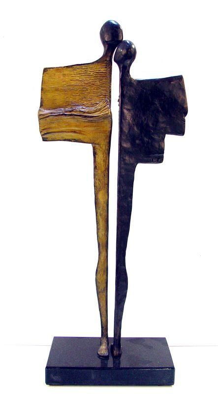 "Bronze by Artist: Liesbeth Rutte: "" you make me feel"""