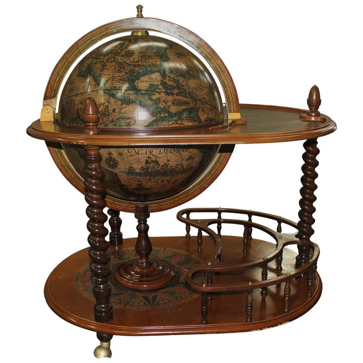 French Mid-Century Modern World Globe Bar, circa 1960s | From a unique collection of antique and modern dry bars at https://www.1stdibs.com/furniture/storage-case-pieces/dry-bars/