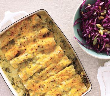 Creamy Spinach Enchiladas and more dinner recipes!