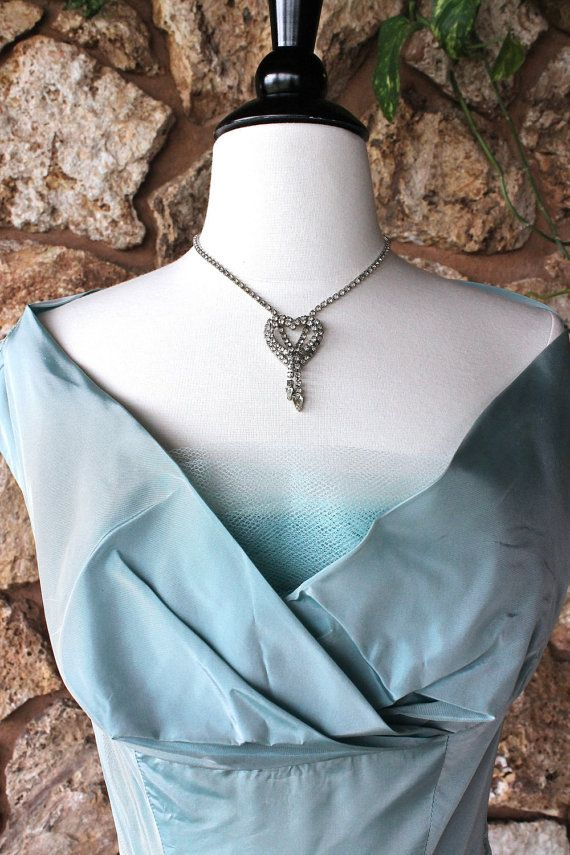 1950s Party Dress //  Aqua Wedding Dress  // Shelf by ladyhogg
