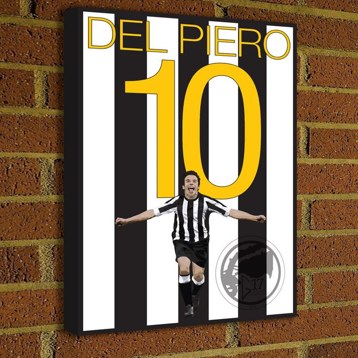 Juventus Legend Alessandro Del Piero Canvas Print  - Juventus Soccer Poster- Pick Your Size poster wall decor, home decor, Serie A by Graphics17 on Etsy