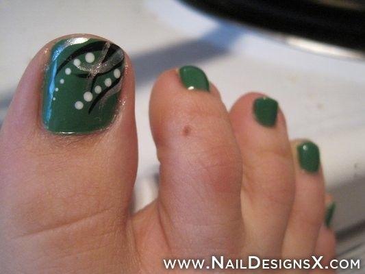 dark green toe nail art » Nail Designs & Nail Art