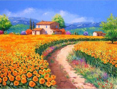 Pinturas al óleo de flores modernas   Cuadros Modernos al Óleo