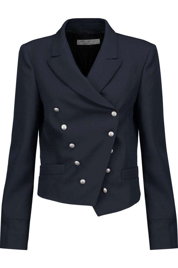 Shop on-sale Philosophy di Lorenzo Serafini Button-detailed wool-twill blazer. Browse other discount designer Jackets & more on The Most Fashionable Fashion Outlet, THE OUTNET.COM