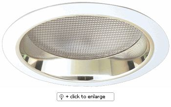"""7"""" Compact Fluorescent Horizontal Reflector with Regressed Prismatic Lens  Dimension: 7 1/2"""" O.D."""
