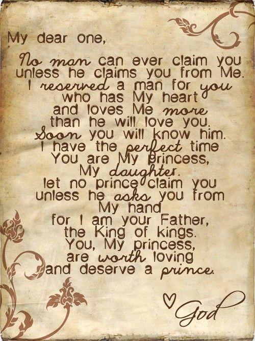 My dear one: