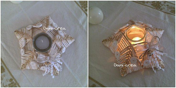 Il filo di mais di Chiara Gloria e Daniela: Stella portacandela con cannucce di carta, con tutorial fotografico