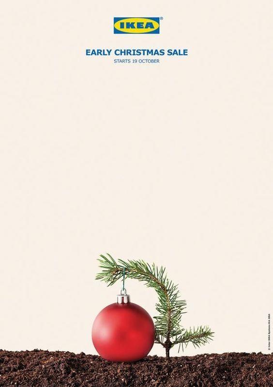 Campaña #Ikea Early Christmas Sale by TBWA Agency   #comunicacion #marketing #regalosdeempresa #merchandising #publicidad #regalosdenavidad #campaña #navidad #leonesp
