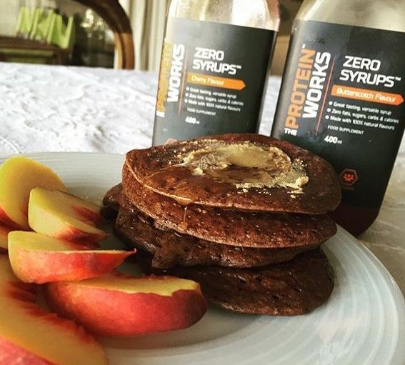 BOOM! Breakfast done the right way, featuring our unbelievable Protein Pancakes and Zero Syrups!