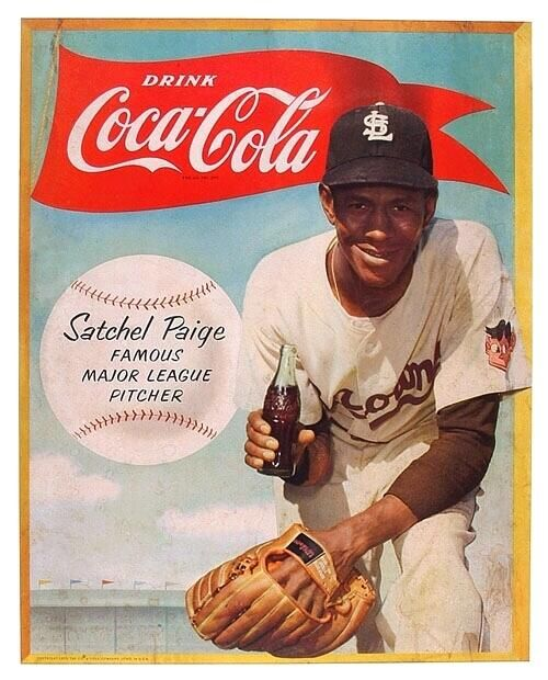1953 Coca Cola ad featuring Hall of fame pitcher, Satchel Paige