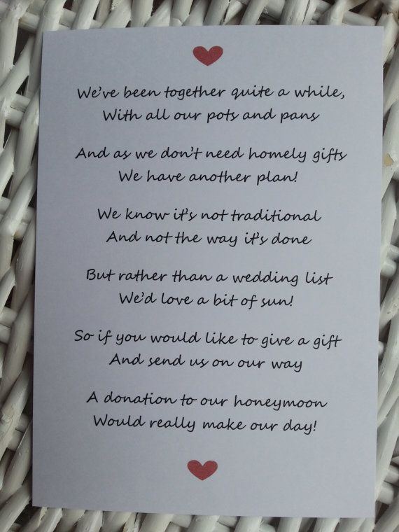 No Gifts Wedding: 25+ Best Ideas About Wedding Poems On Pinterest