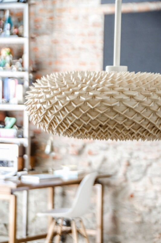 """This quirky chandelier is from our feature """"Lavish Loft"""""""