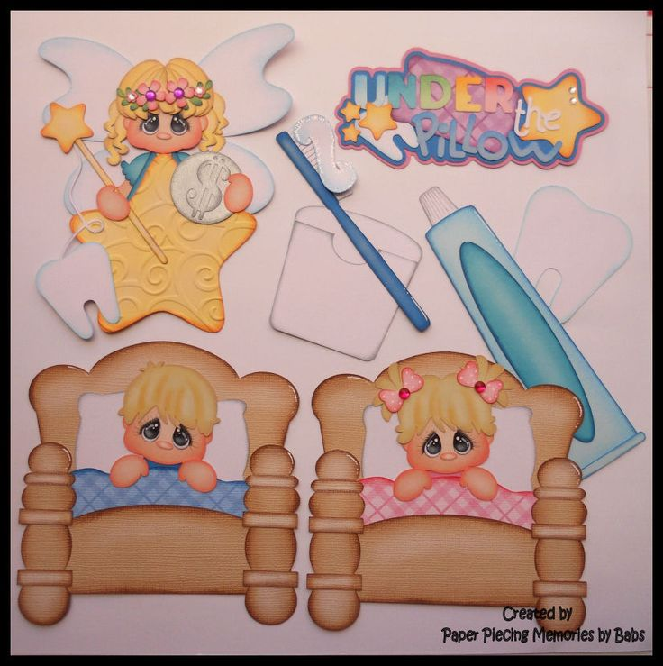Paper piecings for scrapbooking, embellishment, die cut: Under the Pillow created by Paper Piecing Memories by Babs https://www.facebook.com/paperpiecingmemories.bybabs/