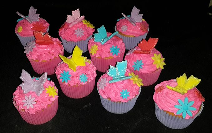 Butterfly Cupcakes (Butterflies & flowers sold separately) For more information & orders email SweetArtbfn@gmail.com; Call 0712127786; Follow us on Facebook https://www.facebook.com/groups/SweetArtCakesBloemfontein/