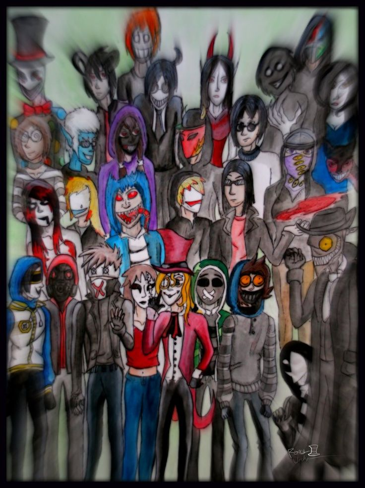 All Creepypasta Characters List
