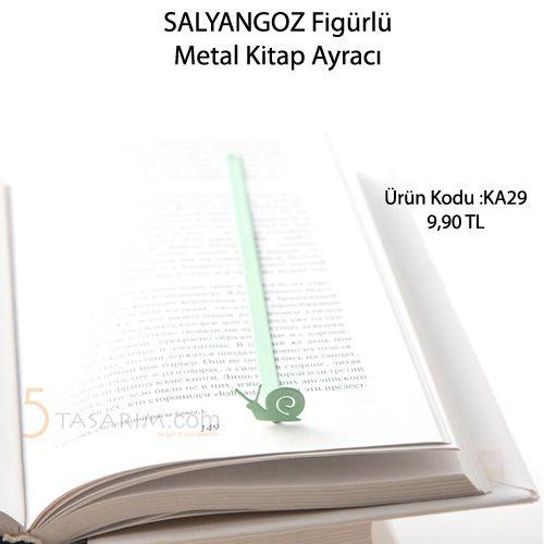 salyangoz figürlü kitap ayracı modelleri