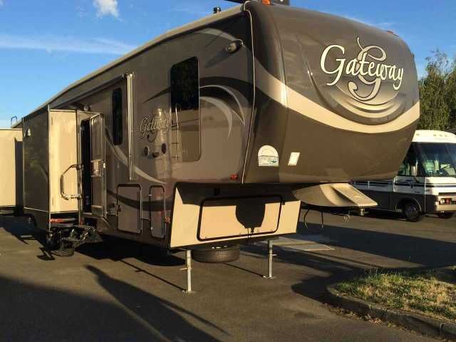 2015 Used Heartland Gateway 3650BH Fifth Wheel in Washington WA.Recreational Vehicle, rv, 2015 Heartland Gateway 3650BH, 2015 Heartland Gateway Bunkhouse for sale. We use this to stay in when we aren't traveling around for the military but looking to get an airstream to take around with us instead. Beautiful inside and out... Smoke/pet free! This unit features 5 slides, a bunkhouse that kids will love, one and 1/2 baths, a residential fridge and an outside kitchen just to name a few things…