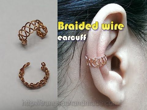 Braided wire ear cuff - unisex jewelry for both men and women 356 - YouTube