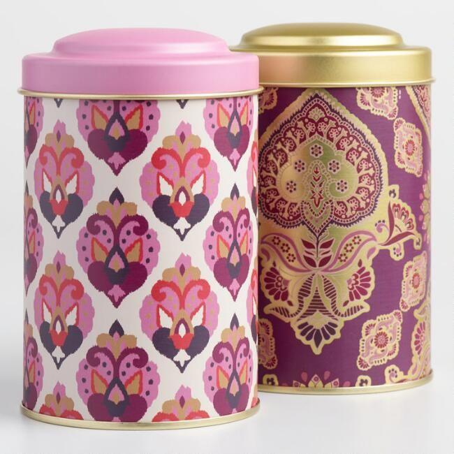 Jaipur and Priti Metal Tea Tins Set of 2 - v1