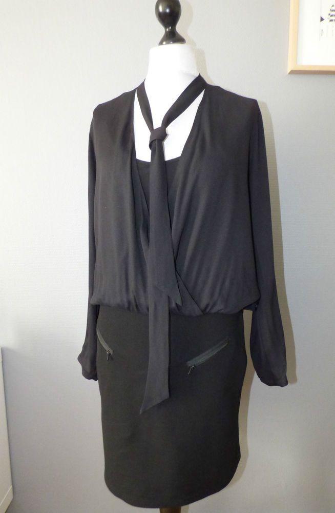 Robe bi matière IKKS - T44  #Robesdroites