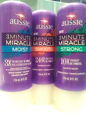 Review, Ingredients: Aussie 3 Minute Miracle Conditoner – 5 New Formulas: Moist, Strong, Smooth, Color, Shine