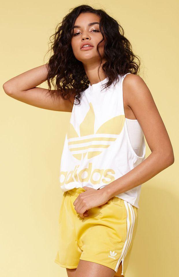 adidas Adicolor Yellow Trefoil Tank Top at PacSun.com
