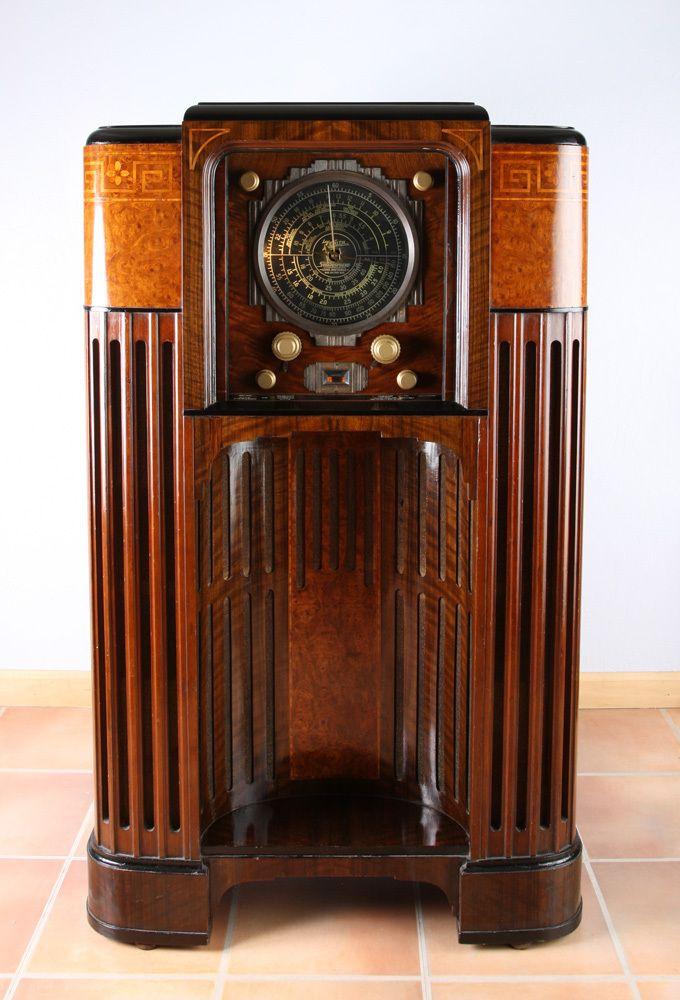 """Ultra rare, 1935 Zenith 1000-Z """"Stratosphere"""" 25 tube ..."""