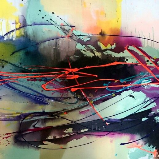 Holly Thomas contemporary paintings and art. Modern abstracts and expression.