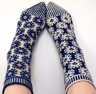 Starry Starry Night Socks by Suzanne Bryan