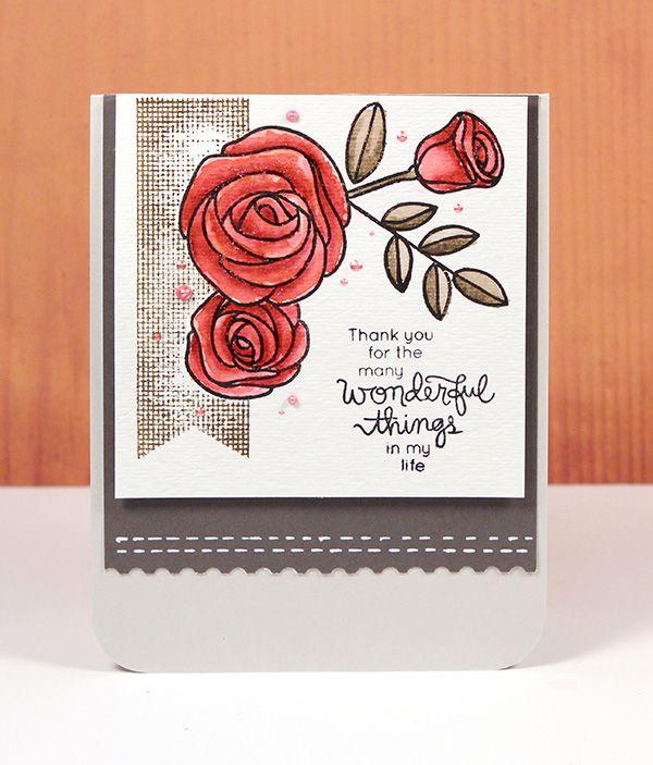 Card Made using Simon Says stamps May Card Kit.