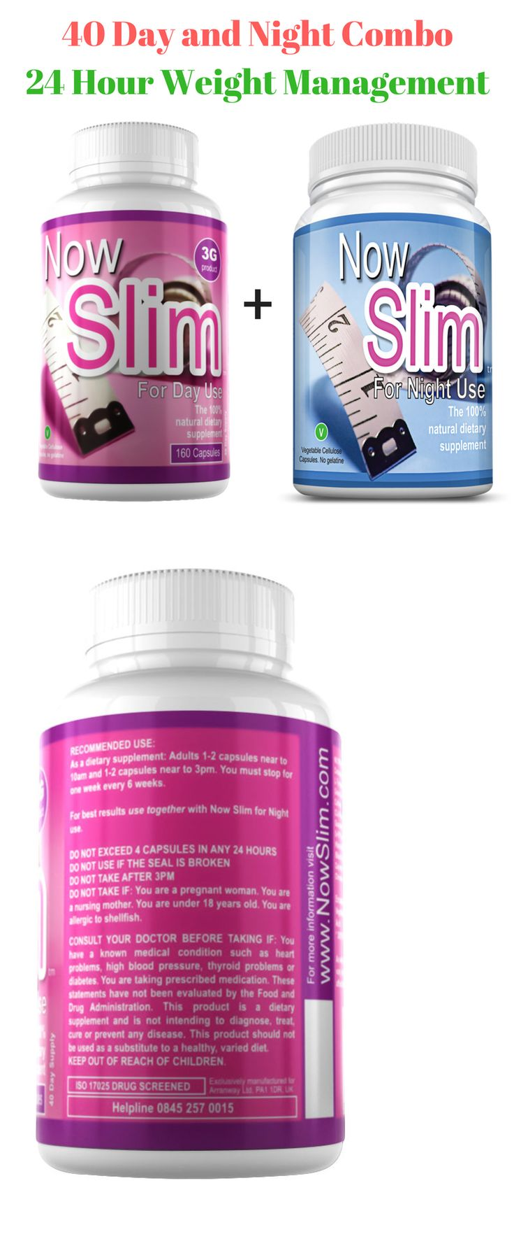 Weight Loss Supplements: Now Slim® 3G Capsules, Day And Night Combo,Strong Slimming Pills, Fat Burners,Diet -> BUY IT NOW ONLY: $39.99 on eBay!