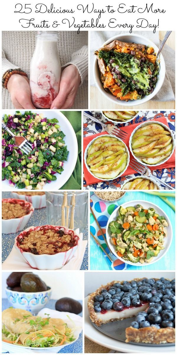 One of the best healthy habits I know! 25 Delicious Ways to Eat More Fruits & Vegetables Every Day | Healthy Recipes @thespicyrd