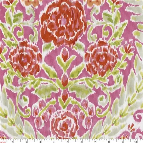 Hot Pink and Orange Jasmine Fabric by Carousel Designs.