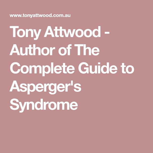 Tony Attwood - Author of The Complete Guide to Asperger's Syndrome