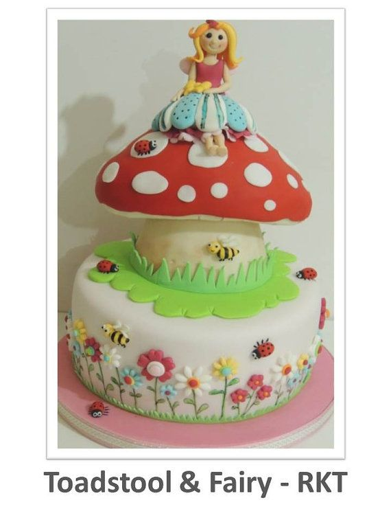 Toadstool RKT & Fairy Cake PDF Tutorial by ShereensCakesandBake