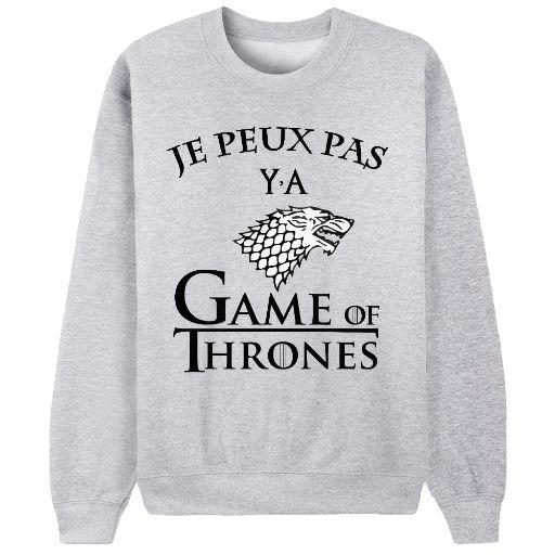 SHOP ici → https://keewi.io/c/je-peux-pas-ya-game-of-thrones  C'est Game of Thrones ou rien !  !  **Edition limitée 6 jours / Imprimé en France**
