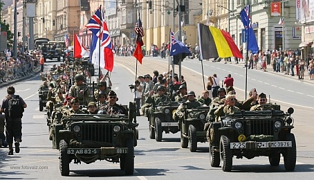 On 4 May 1945 General Patton gave the order to resume the offensive in West Bohemia, and the 2nd and 97th Infantry Divisions and the 16th Armored Division pushed forward in the direction of Plzeň. American tanks appeared on the streets of the city from eight o'clock on the morning of Sunday 6 May, to be greeted with immense enthusiasm by local inhabitants.   Liberation Festival Since 1990 the tradition has grown up of organizing an annual Liberation Festival in May. People come to the city from all over the world to welcome in the spring with music and dance, to meet American veterans and their friends and relatives, and of course to drink Pilsner beer.