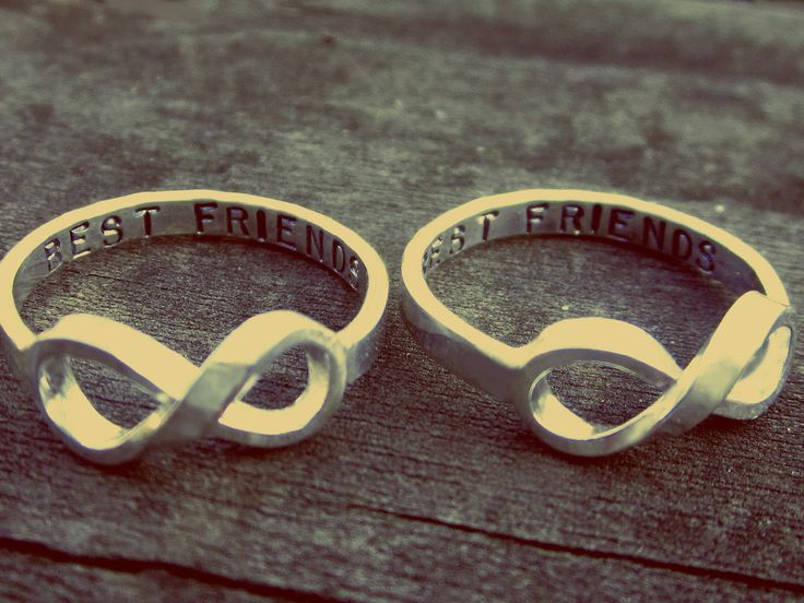 Best friend infinity rings! the ultimate bff accessory lol