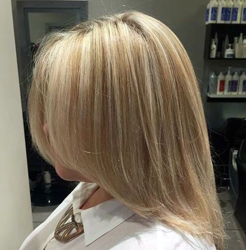 medium+blonde+hairstyle+with+subtle+highlights
