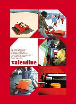 Line of posters designed by Ettore Sottsass for the Olivetti Valentine, Italy, 1969. TYPEWRITER WORKSHOP https://www.etsy.com/shop/TypewriterWshop
