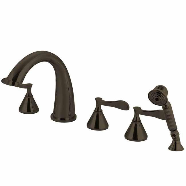 Transitional Oil Rubbed Bronze Finish Century Brass Bathtub Faucets Bathroom faucet KBS-KS23655CFL
