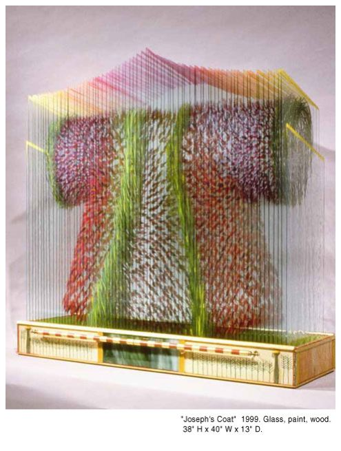 Woah! Paintings on individual sheets of glass when stacked creates a 3-D object ...woah!