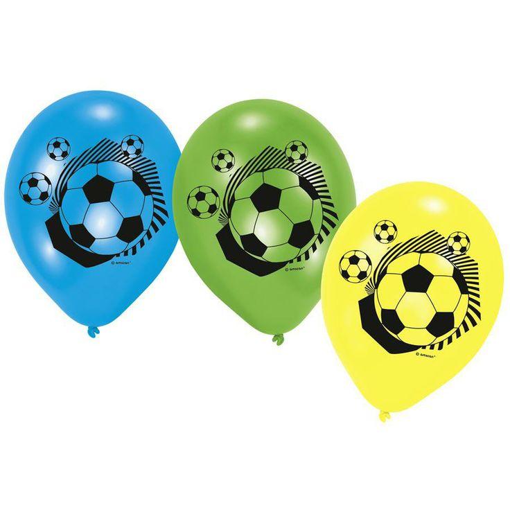 6 ballons Football Cup aux couleurs du Brésil !!! Retrouvez les ballons bleu, vert et jaune sur scrapmalin http://www.scrapmalin.com/anniversaire_enfant/6-ballons-football-cup-p199561.html