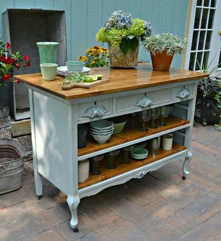 Top 25 ideas about dresser kitchen island on pinterest diy kitchen island furniture makeover - Inspired diy ideas small kitchen ...
