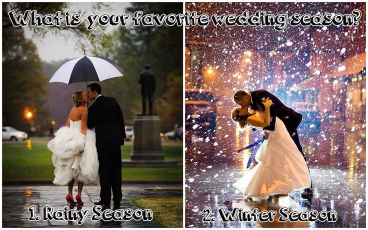 #WeddingIdeas #WeddingInspirations #WeddingSeason  #RainyWeddingSeason vs #WinterWeddingSeason