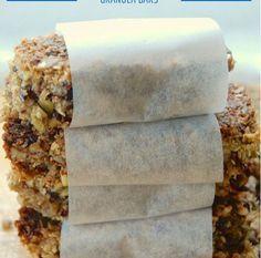 barras de granola sem grãos sem açúcar