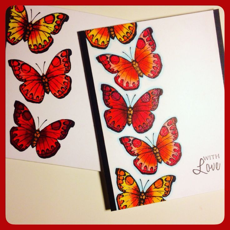 Butterfly card with envelope.