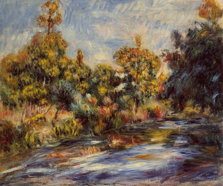 Landscape with River, 1917, Pierre-Auguste Renoir Medium: oil on canvas