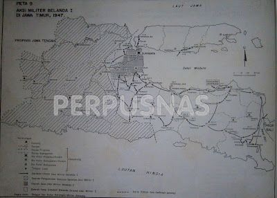 Info Berita Baru Terbaik: Peta ini menggambarkan Aksi Militer Belanda I di J...